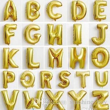 18 Inch Silver/Golden Aluminum Foil Balloon Letter Gold Silver Option Best For Wedding Birthday New Year Party Decoration