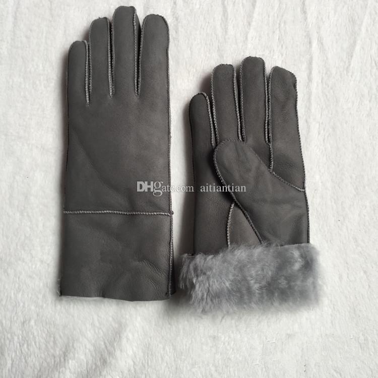 Trasporto libero - guanti di cuoio casuali di modo delle signore di alta qualità Guanti termici Guanti di lana delle donne in vari colori