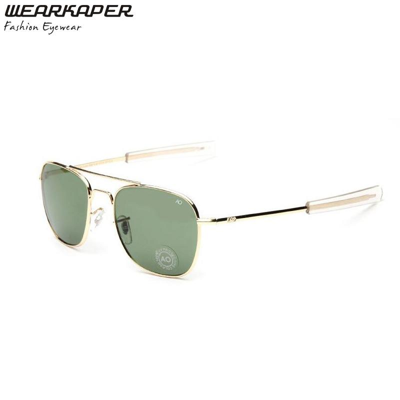 0a017b513f8 WEARKAPER Vintage Classic AO Logo Sunglasses Brand Design Fashion Men  Square Metal Sun Glasses Eyewear Oculos De Sol Masculino Oculos De Sol  Masculino Brand ...