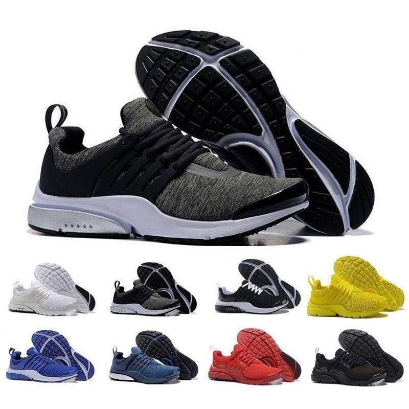 Nouveaux produits 71d0e 00ee9 presto 2018 Nouveau Presto BR QS Respirer Jaune Noir Blanc Hommes prestos  Sneakers Femmes Hommes Sport Marche Designer designer Chaussures de Course  ...