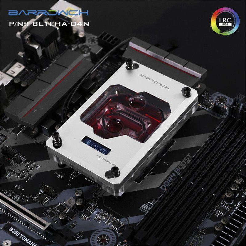 BARROWCH Digital Display CPU Water Block For AMD RYZEN AM4 AM3 FM2 Platform