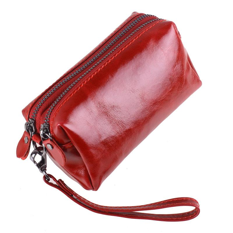 19c29c7ccee 2019 Female Travel Toiletry Bag Brands Genuine Leather Cosmetic Bag Womens  Makeup Travel Purse Women Phone Storage Organizer From Ajshoesstore