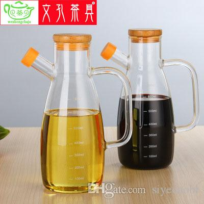 2018 Clear Transparent Glass Cooking Oil Kettle Sauce Pot From