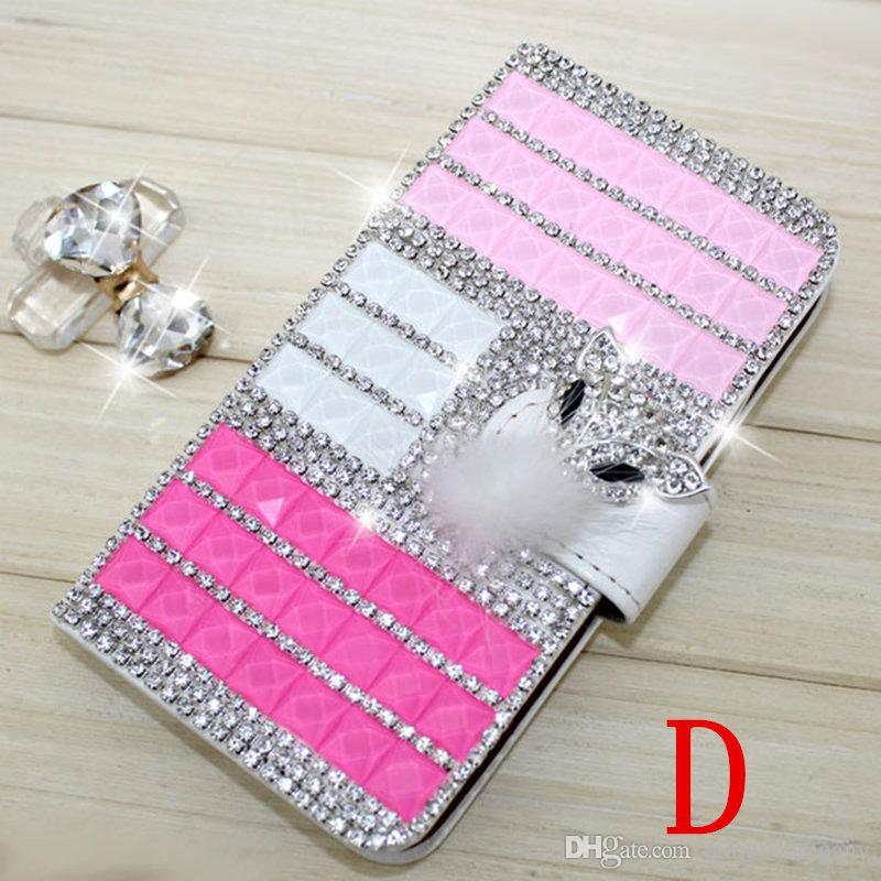Diamond wallet case For ZTE Blade Z Max metropcs ZMax Pro 2 Z982 For Alcatel A30 Fierce Metropcs Rhinestone crystal bling leather