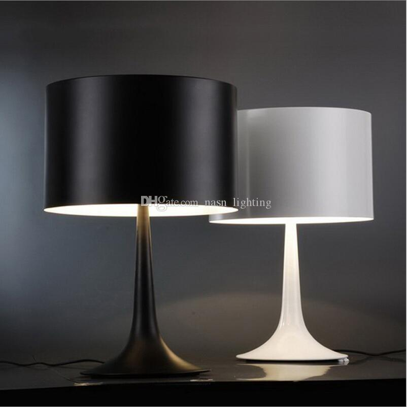 Spun Light Aluminium D25/D30/D39cm White/Black Table Lamps Lights Desk  Lamps for Bedroom Guest Room Study Office night lights