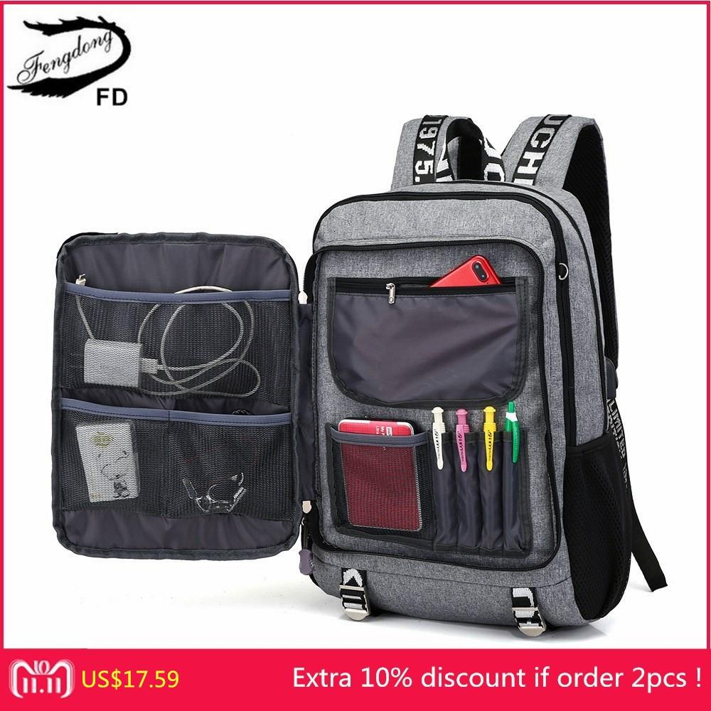 5b61221ddf FengDong Kids School Backpack Boys School Bags Men Travel Shoulder Bag  School Backpacks For Teenagers Bookbag Dropshipping 2018 Y18110107 Best  School ...