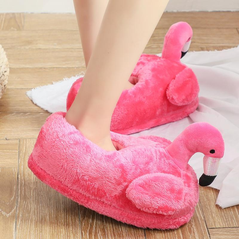 8a67eeff4b2 Winter Warm Unisex Couple Furry Plush Slippers Animales Funny Cotton Shoes  Women Soft Indoor Slippers Cute Bird Cartoon Slippers Rubber Boots Womens  ...