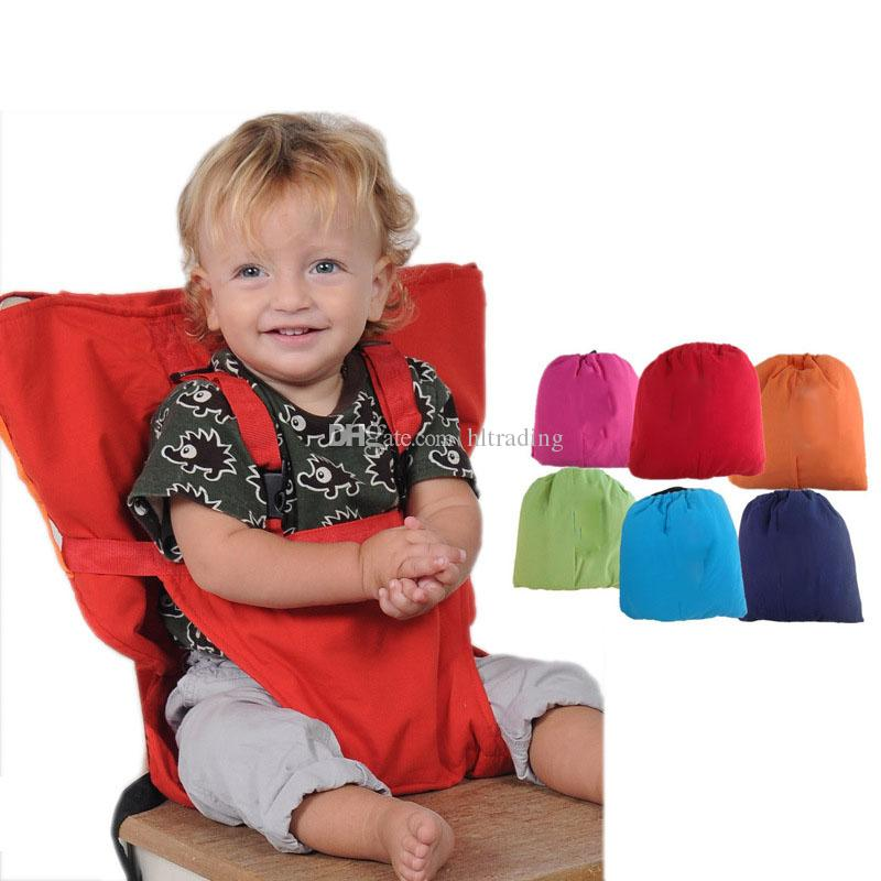 b0fd4fc6fbd 2019 Baby Sack Seats Portable High Chair Shoulder Strap Infant Safety Seat  Belt Toddler Feeding Seat Cover Harness Dining Chair Cover C3560 From  Hltrading