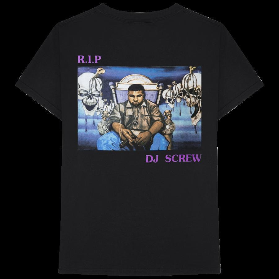 4a7770259b3a Details Sur ASTROWORLD RIP DJ SCREW T SHIRT Travis Scott Merch Gift Print T  Shirt Hip Hop Tee NEW ARRIVAL Causal Summer Tee Order T Shirts Quality T  Shirts ...