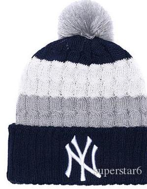 d8450608c Top Selling New York beanie NY beanies Sideline Cold Weather Reverse Sport  Cuffed Knit Hat with Pom Winer Skull Caps