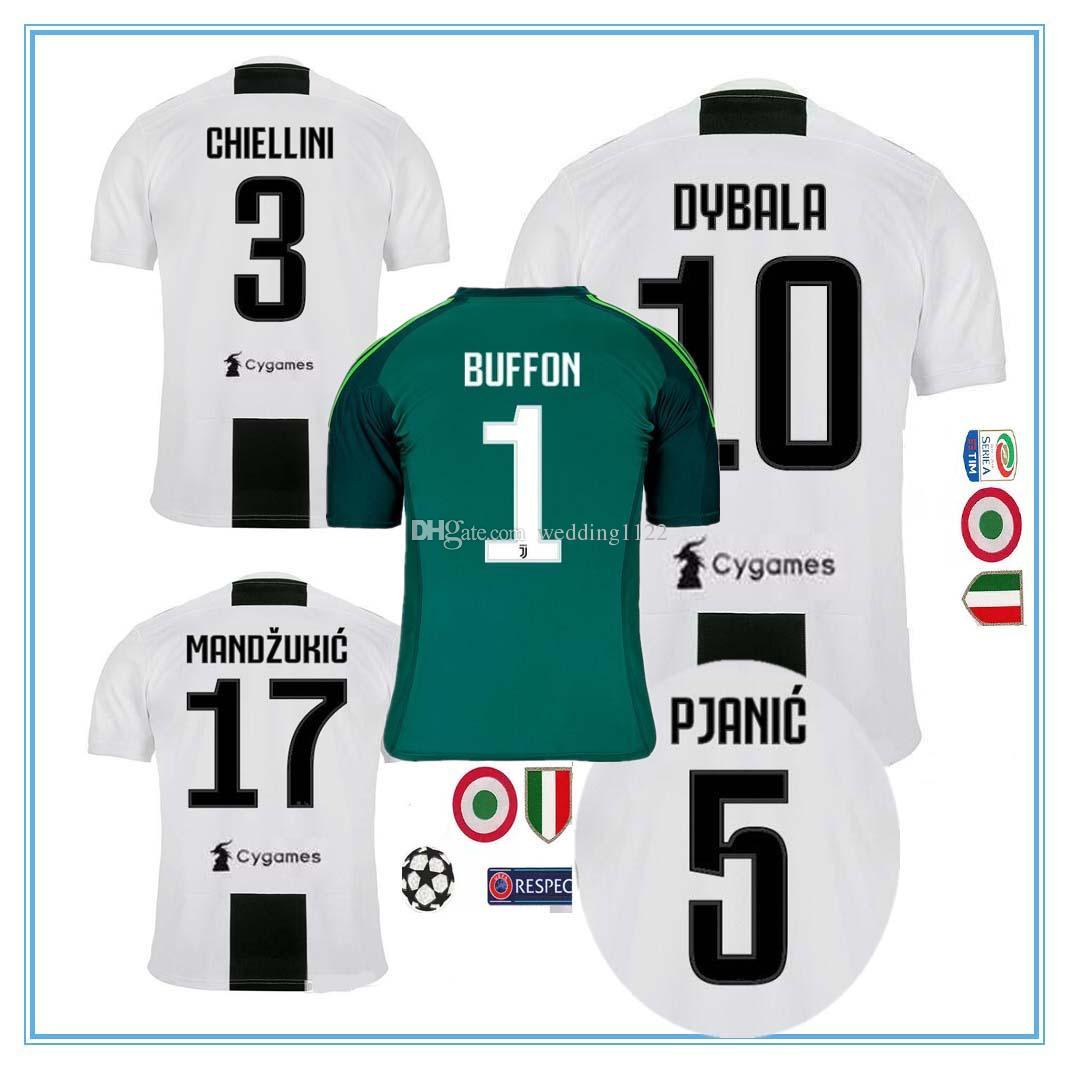 b8e1339eff3 RONALDO DYBALA 18 19 HIGUAIN Soccer Jersey Football Shirt MANDZUKIC  CHIELLINI Camiseta 2018 2019 Juventus BERNARDESCHI Maillot De Foot Juventus  DYBALA ...