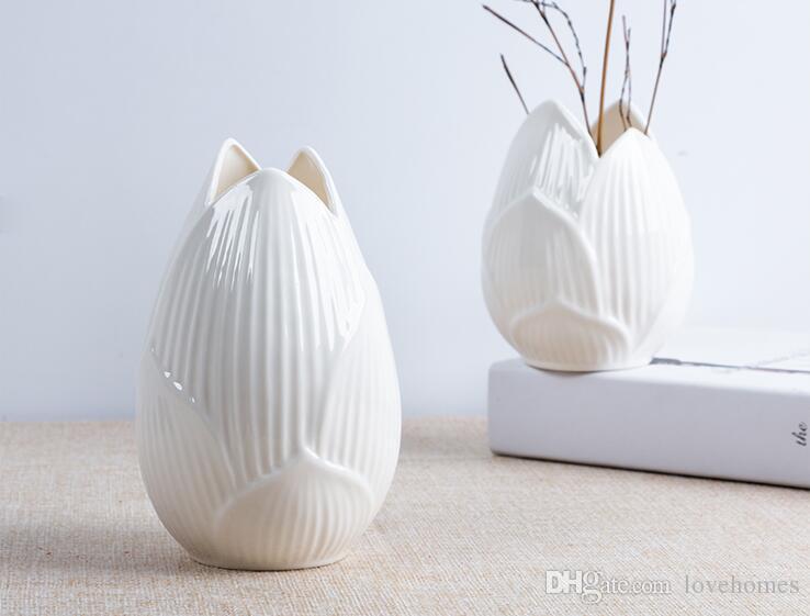High Quality Fashion Flower Shape Vases Europe Ceramic Vase For Home