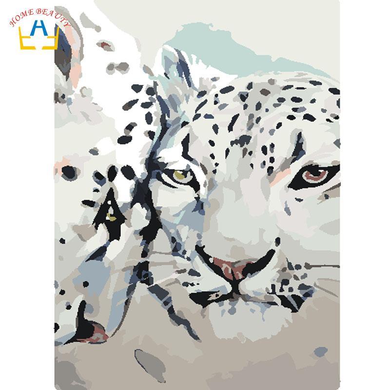 Satın Al Hayvanlar Boyama Kar Leopard Resimlere Göre Tuval üzerine