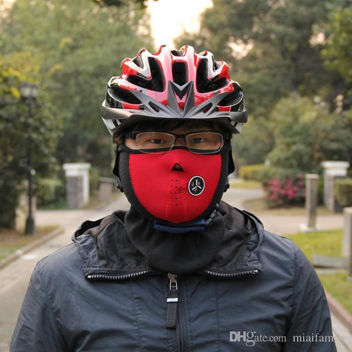 Bicycle Cycling Motorcycle Half Face Mask Winter Warm Outdoor Sport Ski Mask Ride Bike Cap CS Mask Neoprene Snowboard Neck Veil
