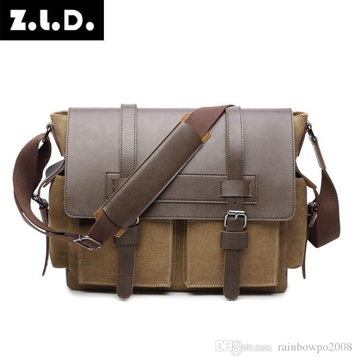f4ac44f35d56 Factory Wholesale Brand Handbag, Fashion Flip Top Canvas Handbag, Simple  Large Capacity Computer Bag, Trend Canvas Leather Leisure Briefcase Leather  ...