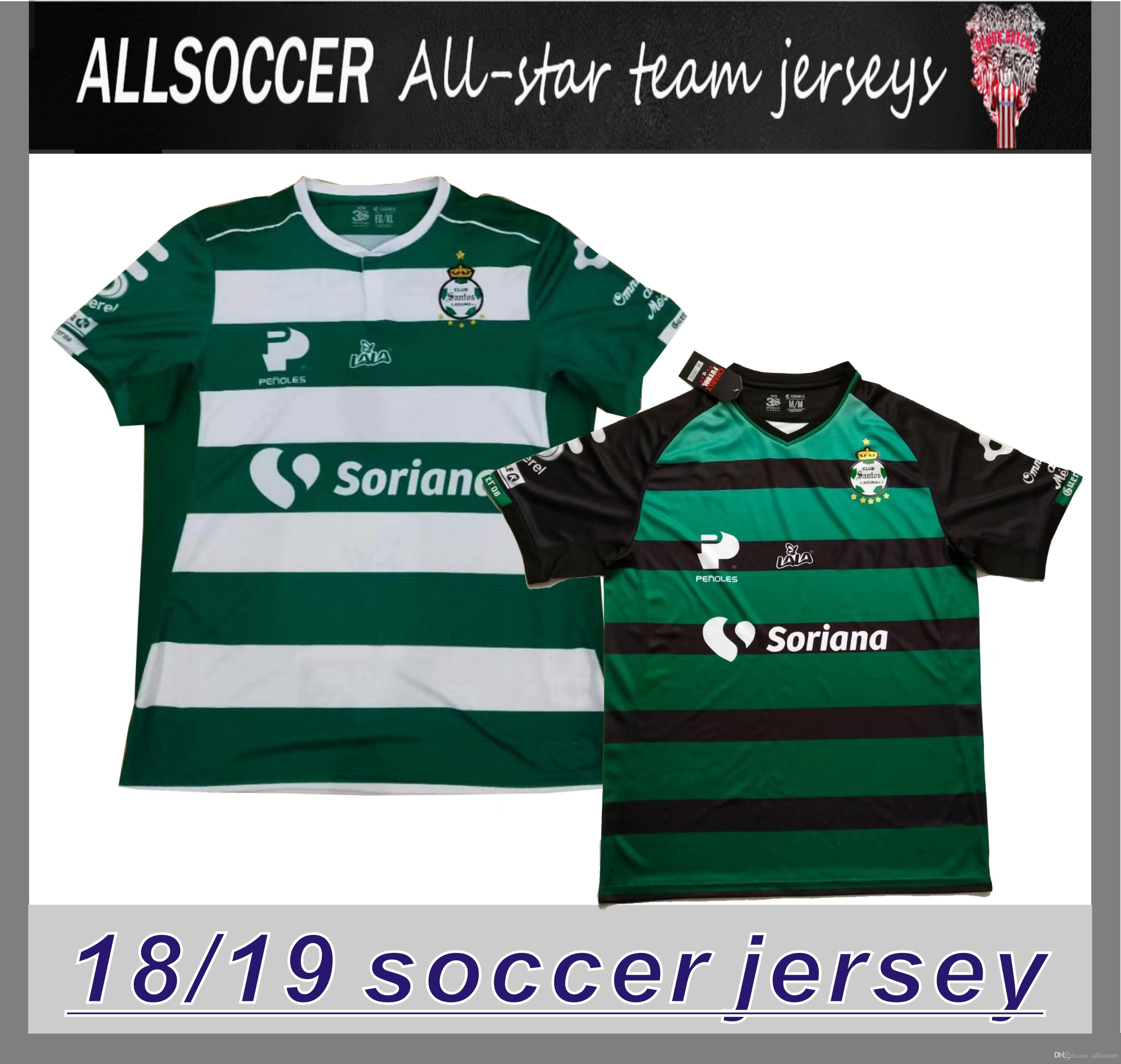 fe63d894528 2019 Mexico League Santos Lagunas Home And Away Maillot De Foot ...
