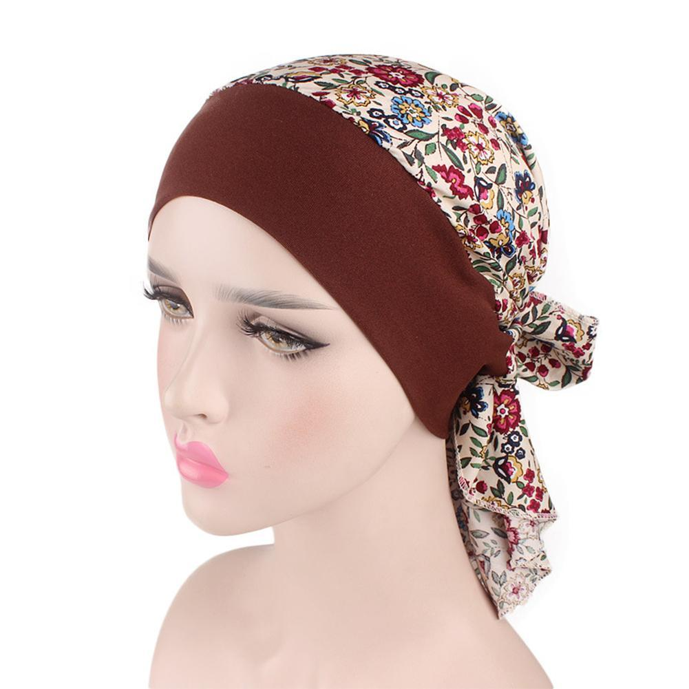 Women S Vintage Floral Print Turban Hat Cotton Stretch Hair Band Hat Pirate Style Patient Chemo Cap