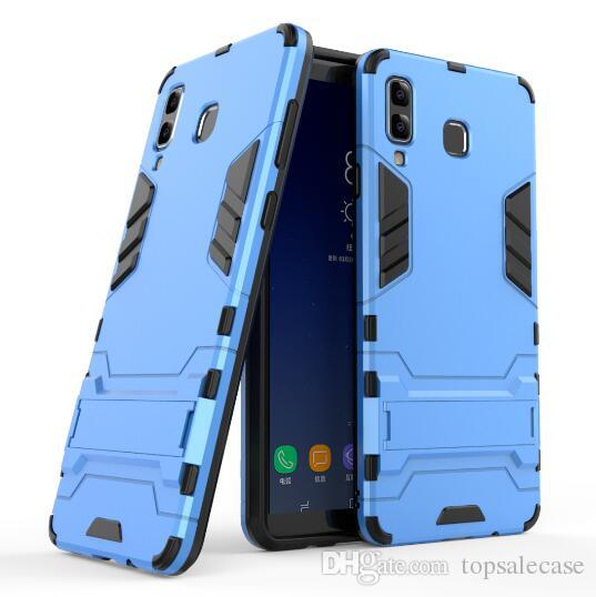 buy online 79526 af3d4 For Samsung Galaxy A8 Star Case Stand Rugged Combo Hybrid Armor Bracket  Impact Holster Cover For Samsung Galaxy A8 Star / A9 Star