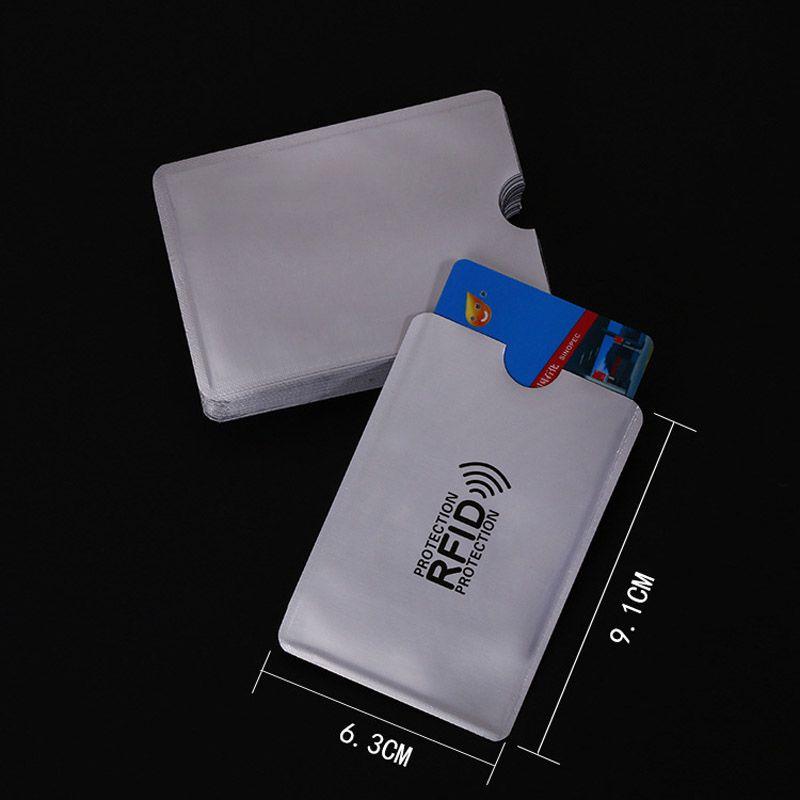 Anti Rfid Wallet Blocking Reader Lock Bank Card Holder Id Bank Card Case Protection Metal Credit Card Holder Aluminium