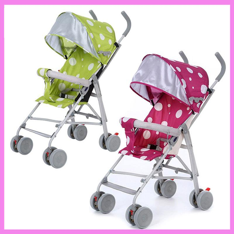 2018 Wholesale Small Lightweight Baby Stroller Car Seat Carriage Folding Portable Steel Child Pram Pushchair Travel System 03Y From Xunqian