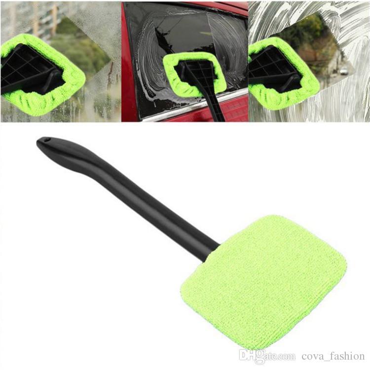 Araba Mikrofiber Cam Temizleyici Oto Araç Yıkama Havlu Fırça Pencere Cam Silecek Toz Sökücü Araba için