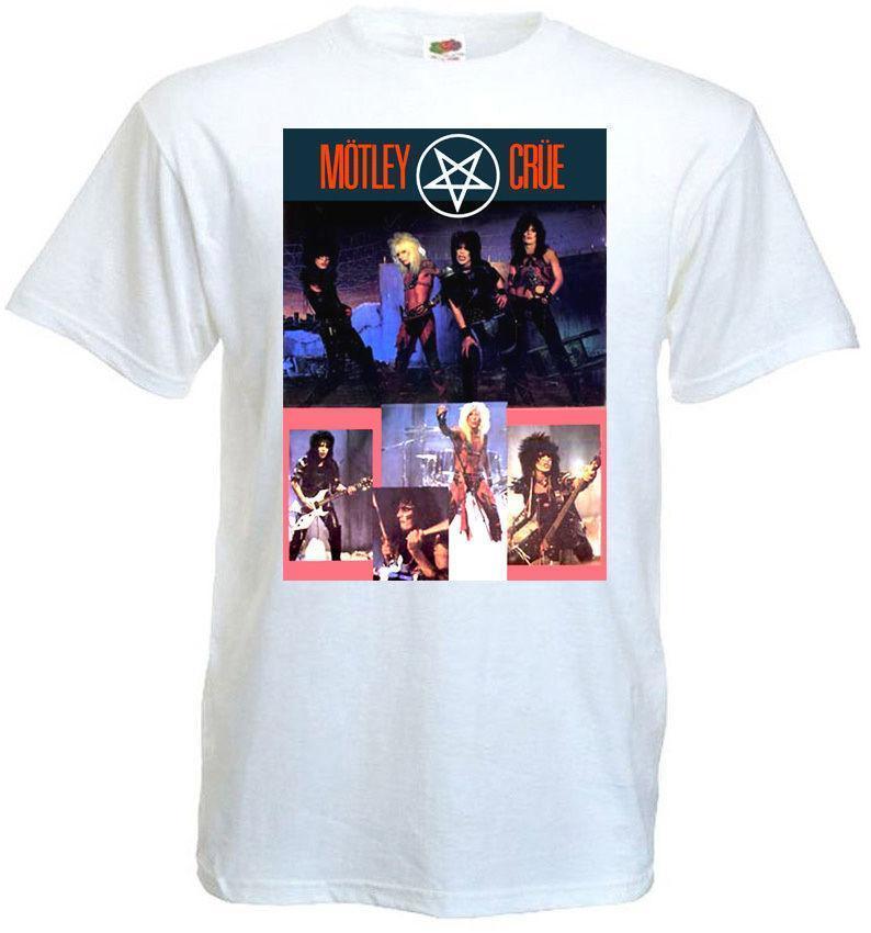153c70021 T-shirts d été Tees T Shirt Hommes Affiche Motley Crue V 2 Blanc Toutes  Tailles S à 3 XL col rond manches courtes meilleur ami chemises