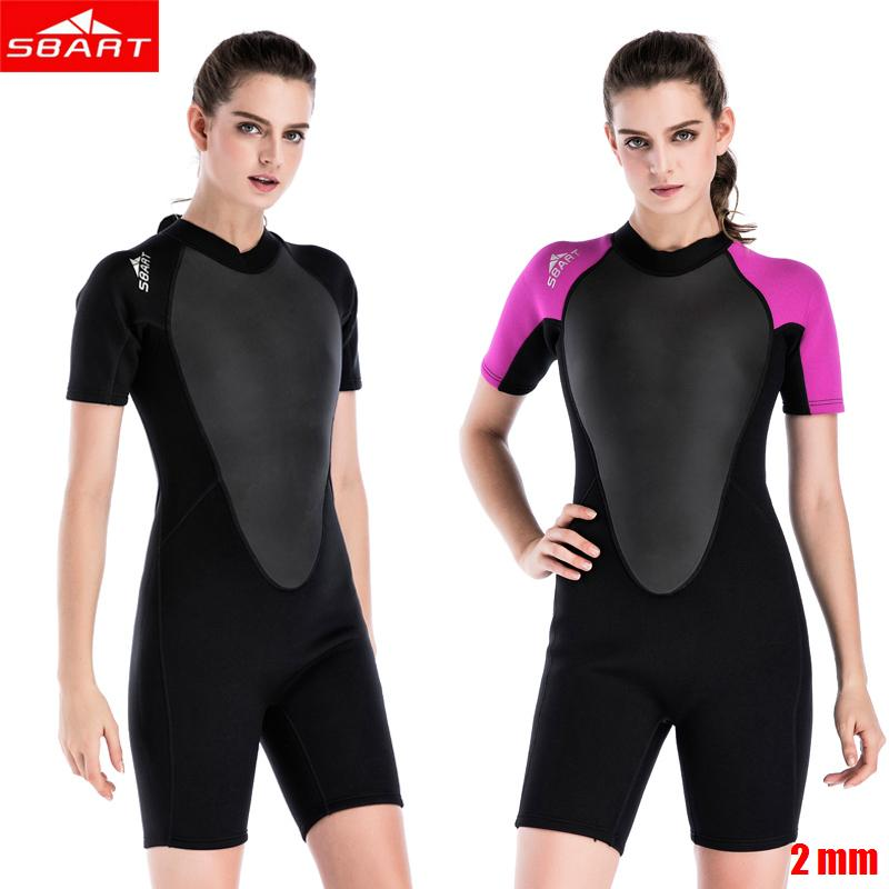 531656f0ea 2019 2mm Neoprene Women Short Swim Wear Elastic Sunscreen Anti Jellyfish  Snorkeling Surfing Short Sleeved One Piece Warm Diving Suits From Yymq0404