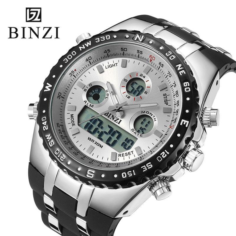 4fcdfa78164a Compre Relojes De Doble Pantalla Digital Hombres Reloj De Cuarzo Deportivo  Hombres Reloj Hombres Correa De Goma Reloj De Pulsera De Cronómetro Reloj  De ...