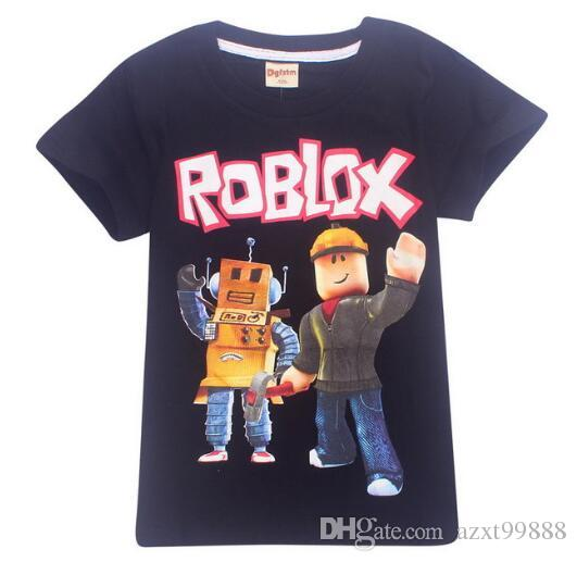 fad5c9fbc78d9 2019 2018 New Summer Big Boys Girls Clothes Short Sleeve T Shirt For  Children Roblox Printed Youtube Game Kids Boys Tops Shirts 6 14Y From  Azxt99888, ...