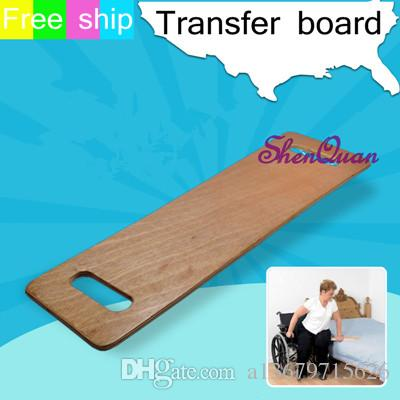 Wooden sliding transfer board for medical patient and handicap,transfer slide board for bed, wheelchair, chair or commode