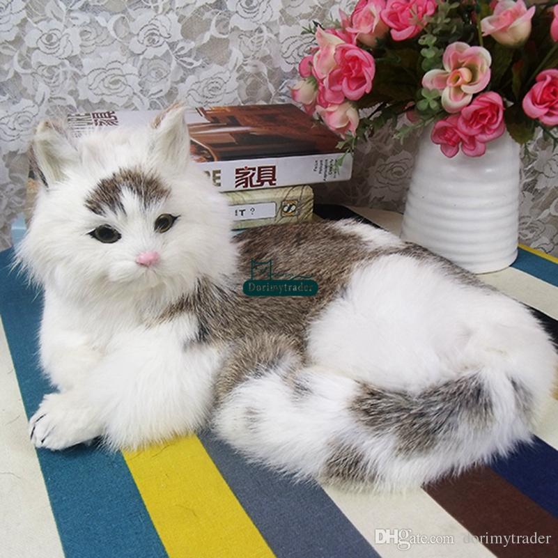 997aece0ce99 2019 Dorimytrader Cute Lifelike Animal Lying Cat Plush Doll Soft Lovely Realistic  Animals Pet Cats Toy Decoration Gift 35x23x15cm From Dorimytrader, ...