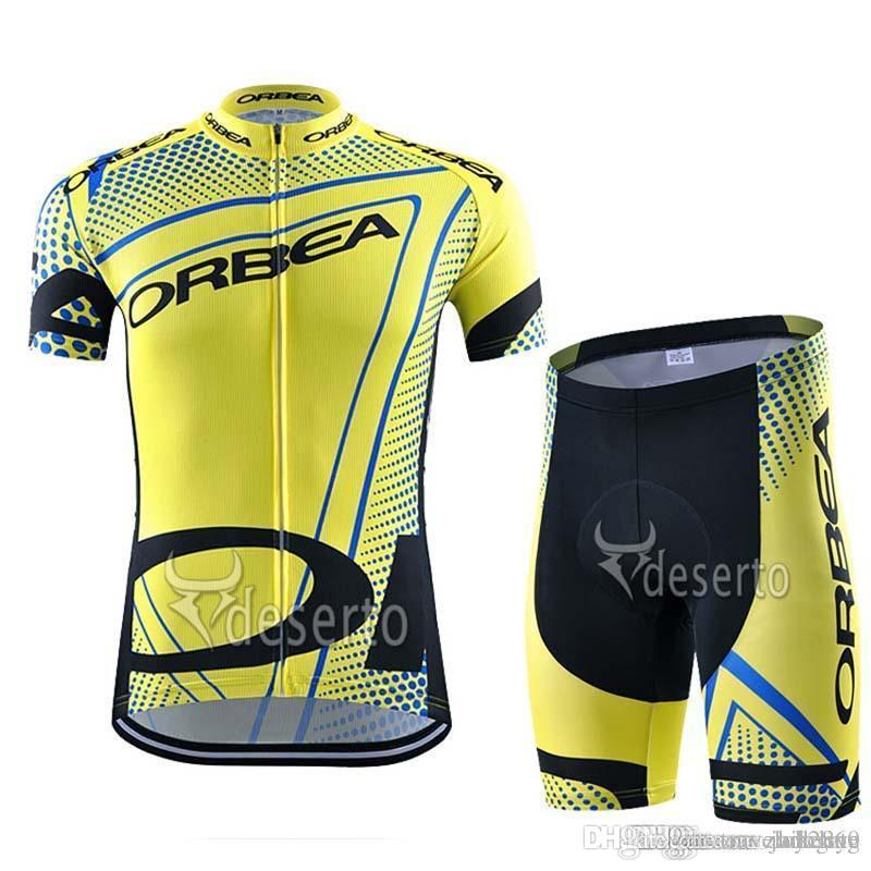 Orbea Team Cycling Short Sleeves Jersey Bib Shorts Sets Mens New Summer  Racing Mountain Bike Quick Dry Gel Pad Ropa Ciclismo F2217 Road Bike Shorts  Bicycle ... 4655953d4
