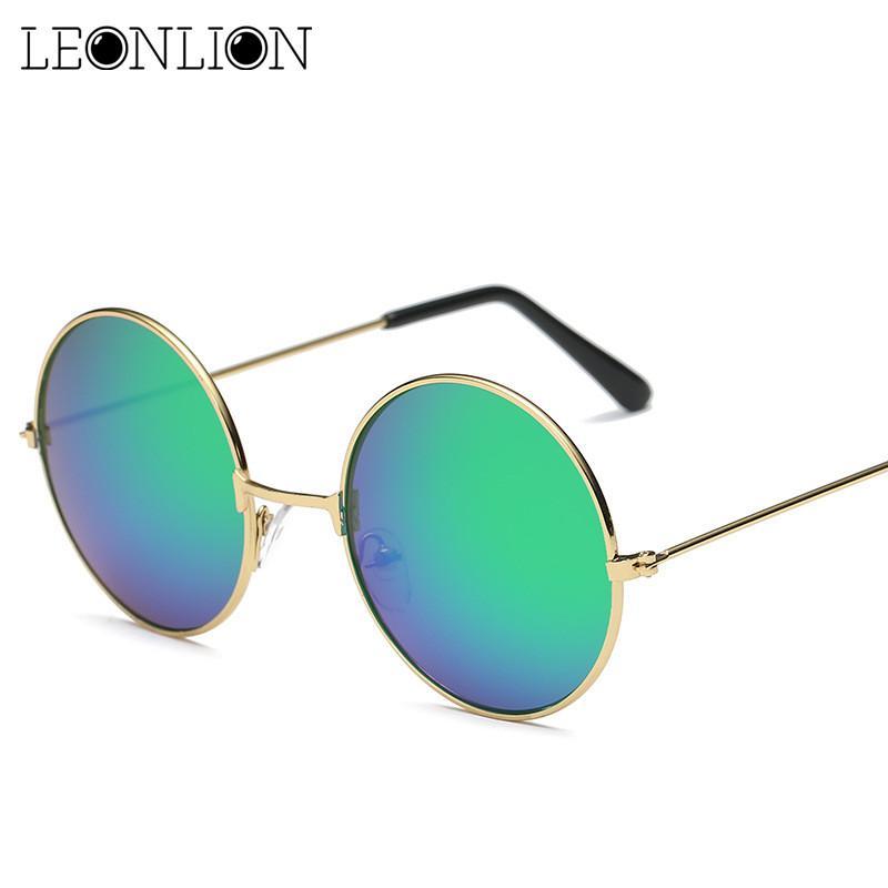 c803c7507c Compre LeonLion 2017 Ronda De Metal Gafas De Sol Mujeres Colores Del  Caramelo Polarizado Retro Clásico Arco Iris Gafas De Sol Hombres Oculos De  Sol ...