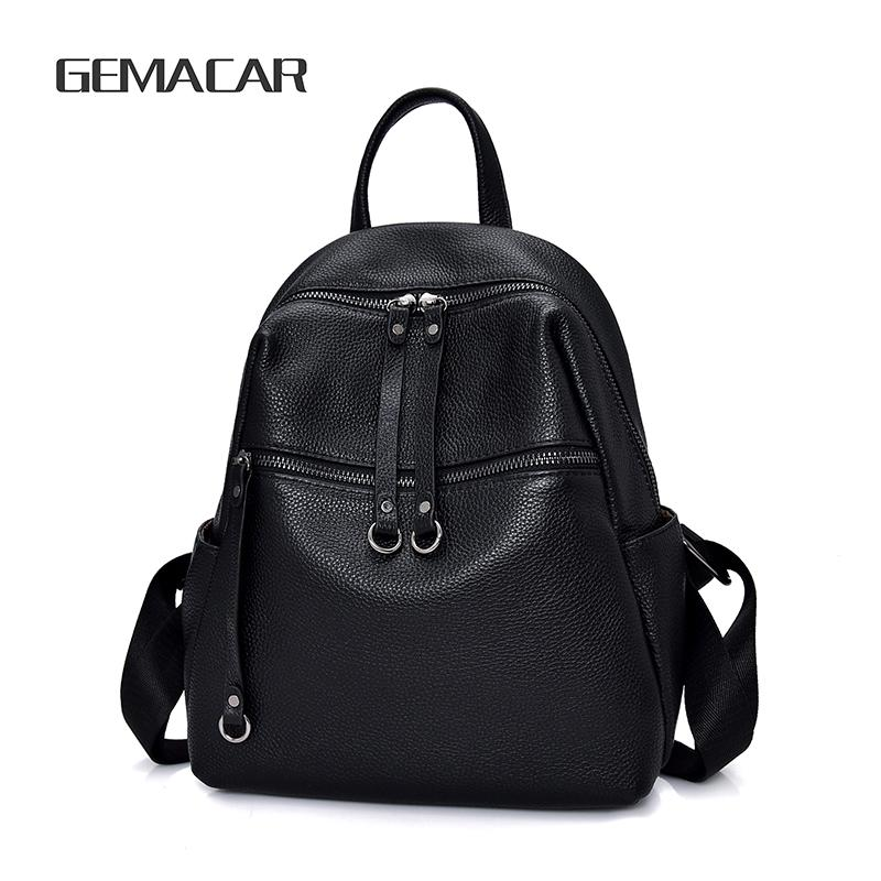 b498c5d3b9a Female Backpack Fashion Leather Business Backpack Casual Wild High End  Ladies Cowhide Bag Elegant Design Simple Style Girl Bag Tool Backpack Best  Laptop ...