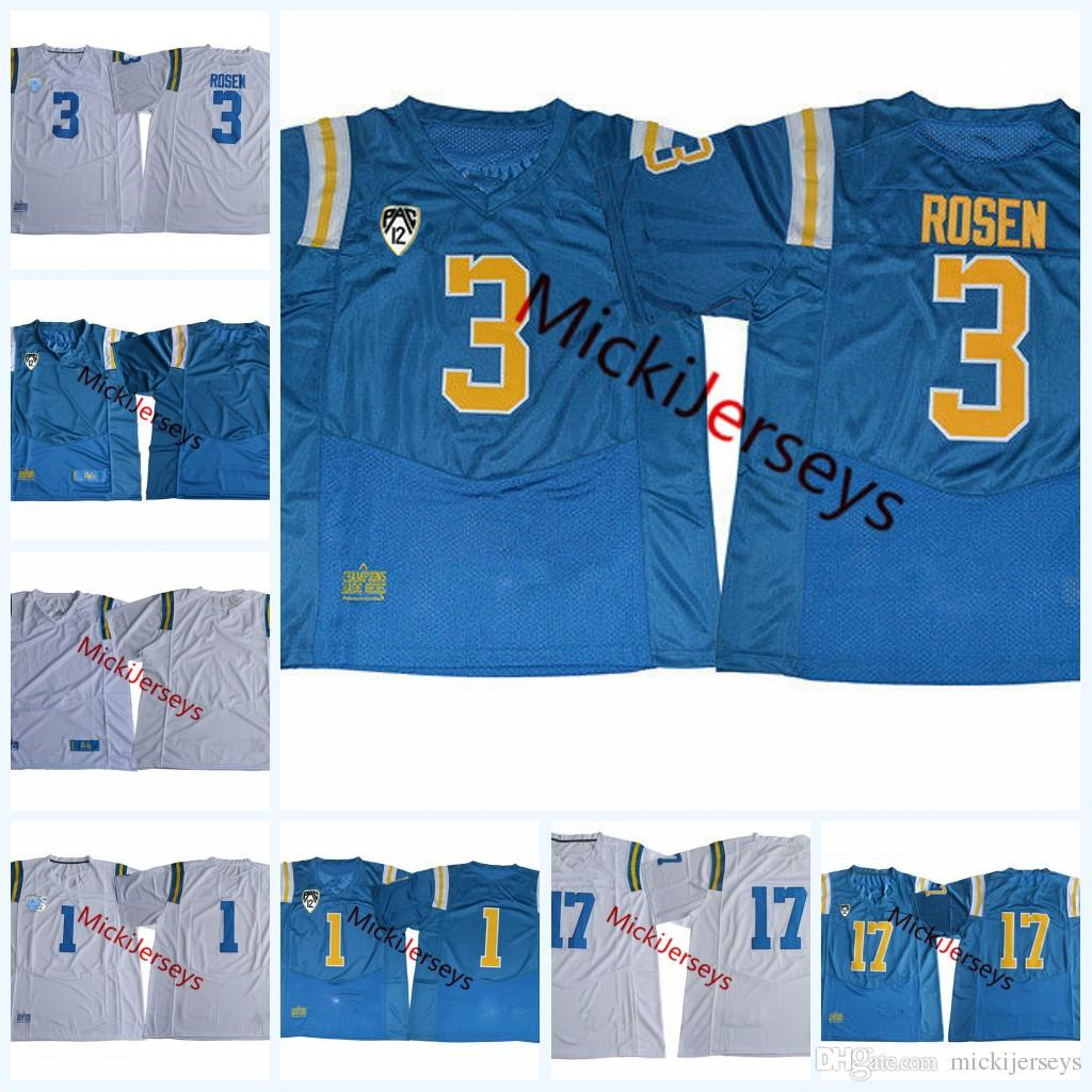 9dd3ef34c NCAA PAC-12 UCLA Bruins Josh Rosen College Football Jerseys Stitched White  Royal #17 Matt Lynch #1 Soso Jamabo UCLA Bruins Jerseys