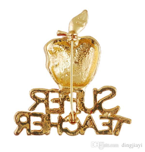 Acessórios de moda jóias broche de ouro série de natal broche de strass broche de casamento de ouro para as mulheres