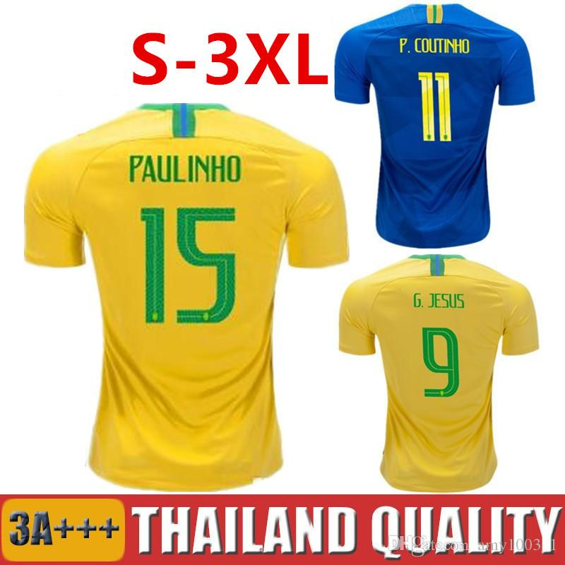 FIRMINO Soccer Jerseys 2018 FRED PELE World Cup JESUS COUTINHO ... 61f93caa3