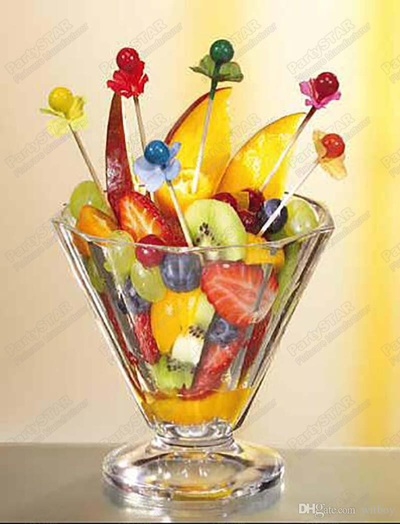 "6,Fingerfood skewers 7cm Party picks colors ball assorted""berries""Pearl,Disposable wooden,Cake,sandwich,fruit dessert"