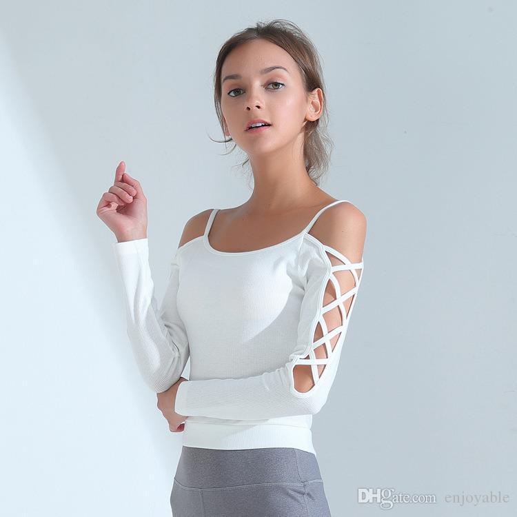 179f99ff6 Compre Camisa Deportiva Para Mujer De Fitness Femme Camiseta De ...