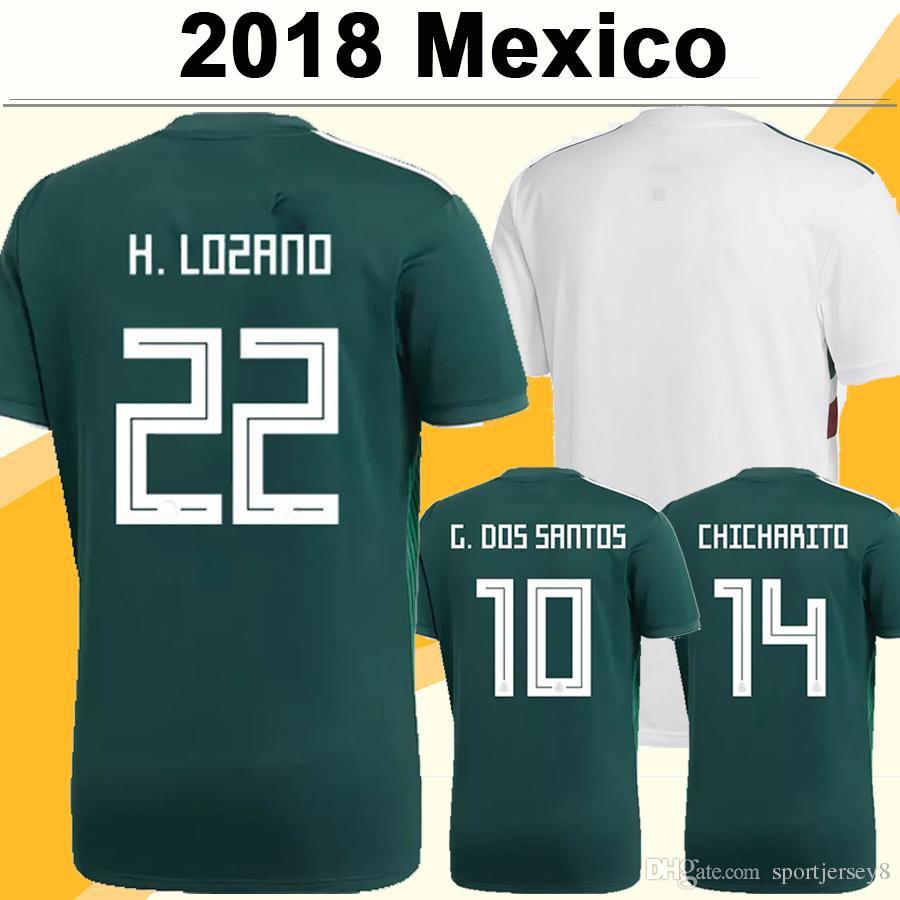 2018 World Cup Mexico CHICHARITO Soccer Jerseys H.LOZANO A.GUARDADO Home  Away Shirts National Team R.JIMENEZ H.HERRERA LAYUN Football Jersey UK 2019  From ... a653cb312