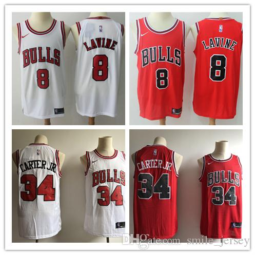 2019 New Mens 8 Zach LaVine Chicago Bulls Basketball Jerseys ... 0cba505b812