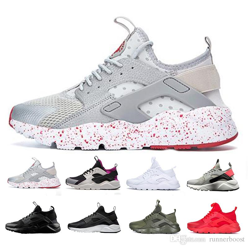 61d7157cca4 Compre Air Huarache Ultra Zapatos Para Correr Hombres Mujeres Hot Sole  Triple Blanco Negro Rojo Gris Huaraches Sport Designer Shoes A  50.77 Del  Runnerboost ...