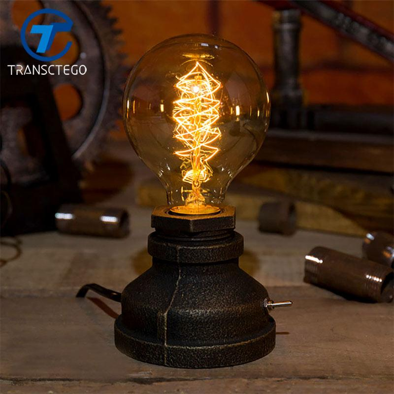 2019 Retro Desk Lamp Dimming Night Light Edison Bulb American