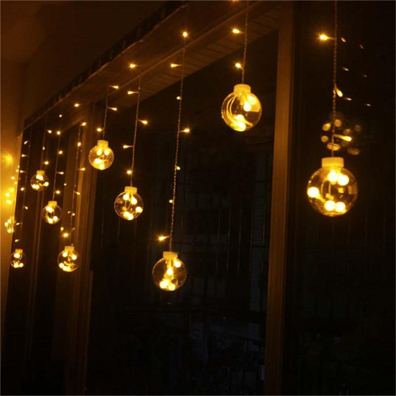Holiday Lighting Multicolor Ball Bubble Waterproof Curtain Light