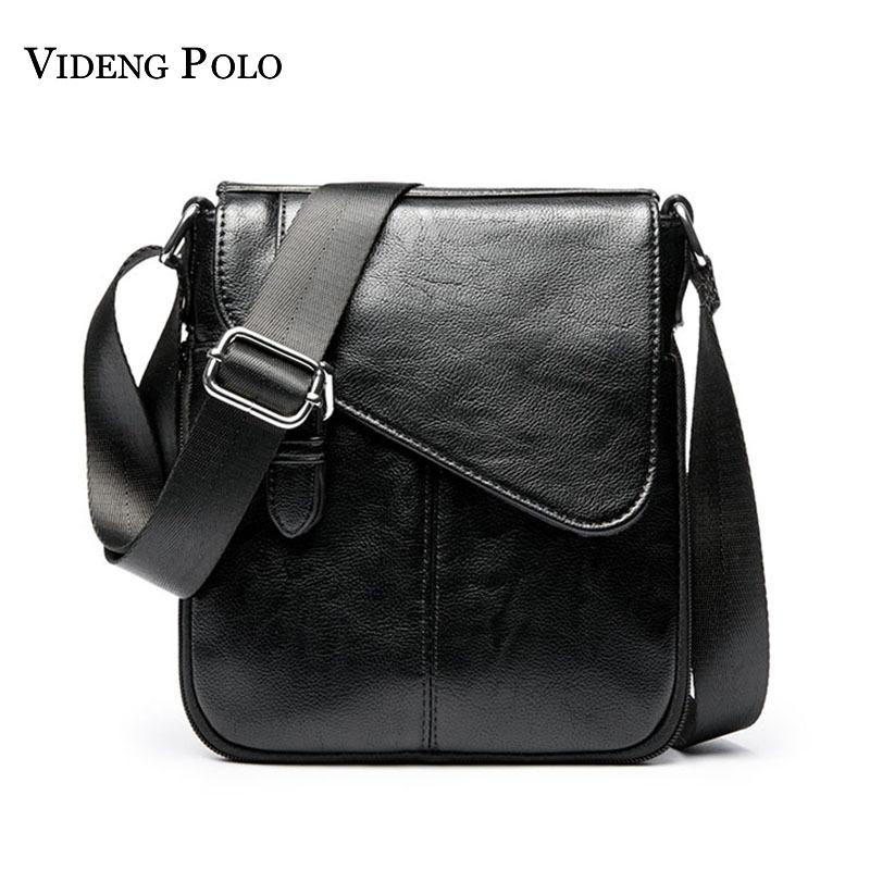 VIDENG POLO Brand Vintage Leather Men Small Crossbody Shoulder Bag Casual Business  Mens Messenger Bag Men S Bolsas Masculina Handbag Brands Cheap Bags From ... e899dee6e398e