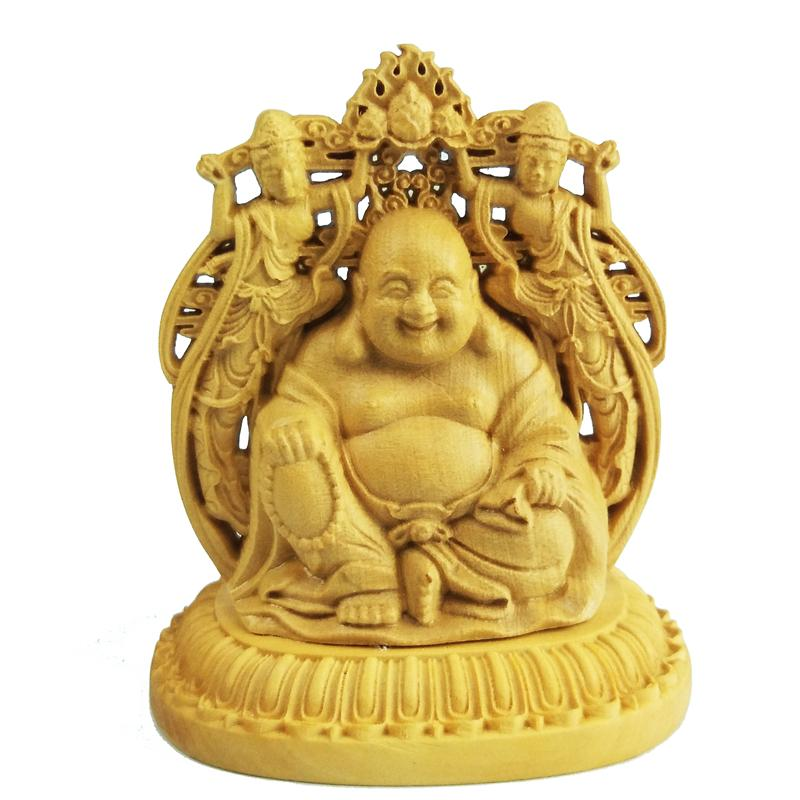 Buddhism Double sided Car furnishing articles handicraft wood arts crafts Souvenir Home furnishings gift handmade gift