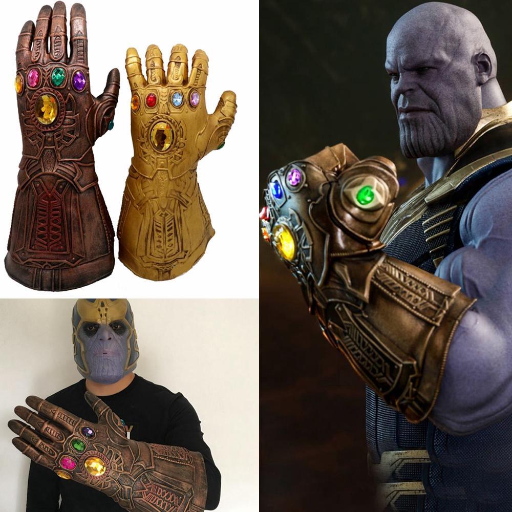 2018 infinity war thanos gloves halloween superhero cosplay latex
