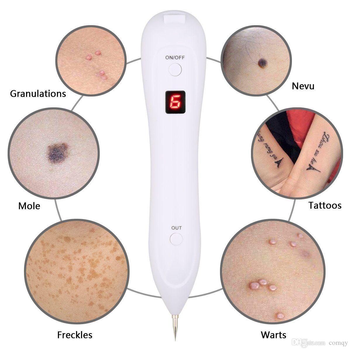 LCD Portable Dark Spot Remover Laser Plasma Pen Mole Machine de retrait de tatouage
