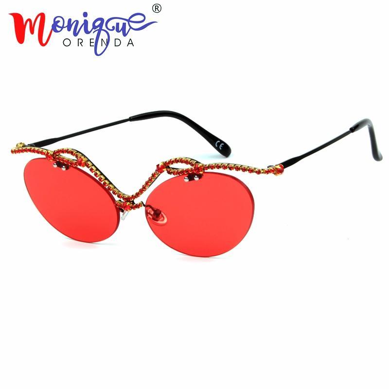 edf50130d0a 2018 New Cute Sexy Retro Cat Eye Sunglasses Women Luxury Rhinestone ...