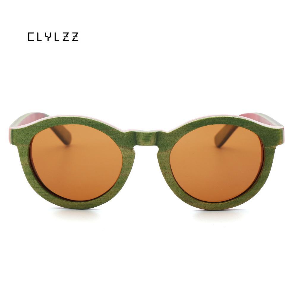 90ecd82021 Compre CLYLZZ Gafas De Sol De Madera Hechas A Mano Mujeres Y Hombres Verde  Monopatín Vintage Gafas De Madera Polarizadas 2018 Nuevas Gafas De Sol  Mujer A ...